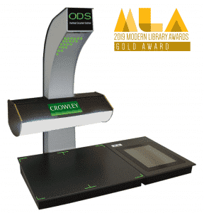 Crowley ODS book scanner MLA gold award